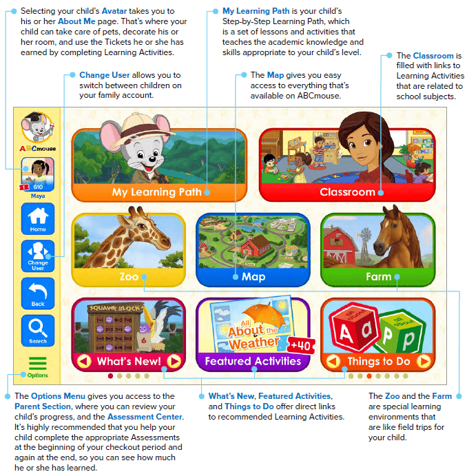Preview of ABCmouse homepage