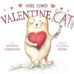 Book cover for Here Comes Valentine Cat